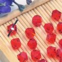 Beads, Auralescent Crystal, Crystal, Pinkish red , Faceted Bicones, 6mm x 6mm x 5mm, 10 Beads, [ZZC187]